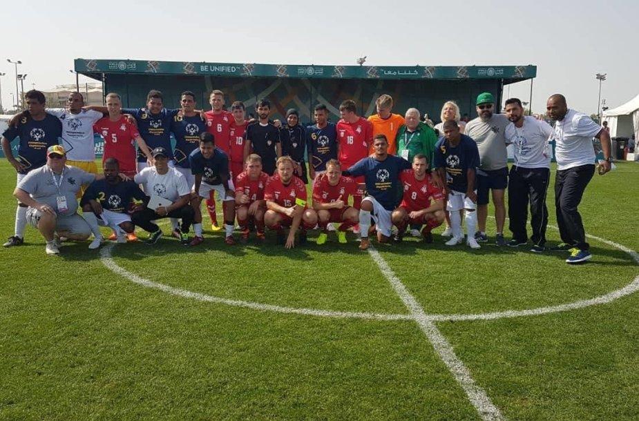 Specialiosios olimpinės žaidynės. Lietuvos futbolininkai įveikė brazilus.