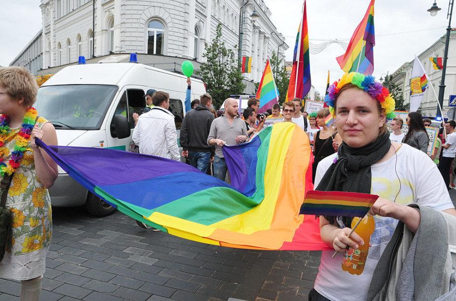 """Vilniaus centre ruošiamasi eitynėms """"Už lygybę"""""""