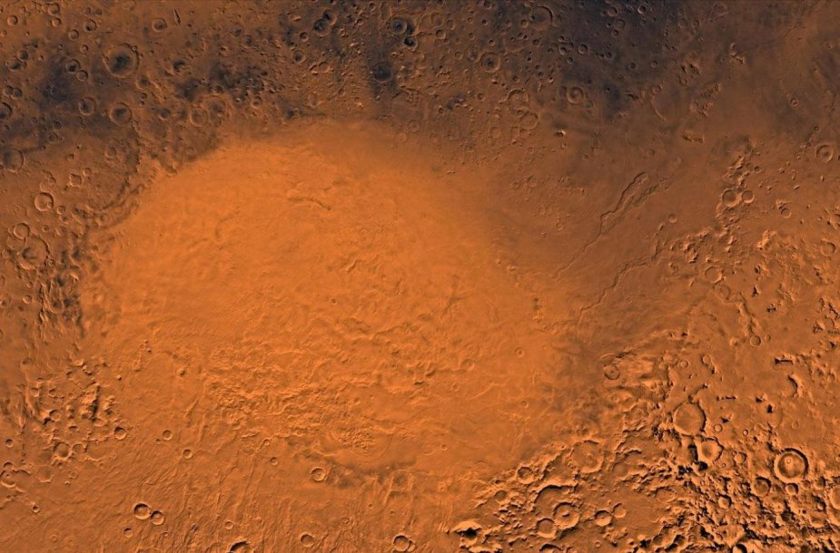 Hellas kraterio vaizdas