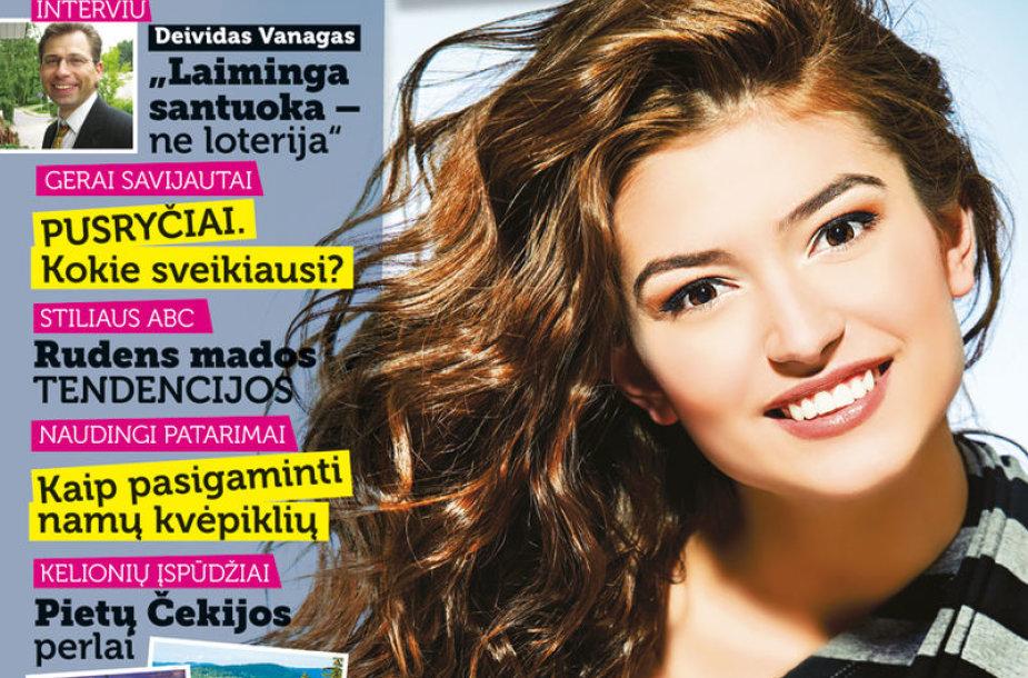 """Žurnalo """"Ji"""" rugpjūčio-rugsėjo mėnesio viršelis, 35 nr."""