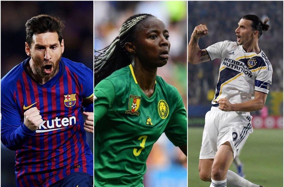 Lionelis Messi, Ajara Nchout ir Zlatanas Ibrahimovičius