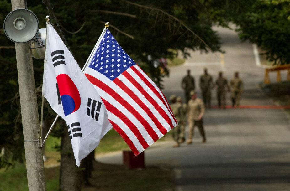 Pietų Korėjos vėliava, JAV, vėliava