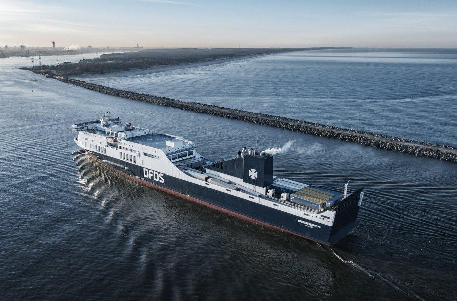 DFDS keltas plaukia į Klaipėdos uostą