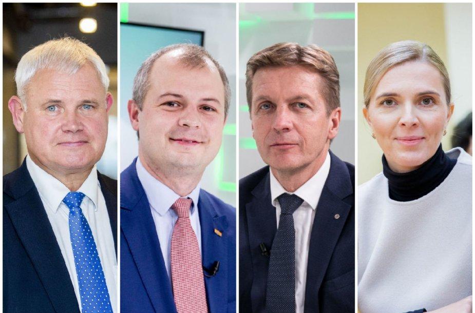 Vytautas Grubliauskas, Simonas Gentvilas, Arvydas Vaitkus ir Agnė Bilotaitė
