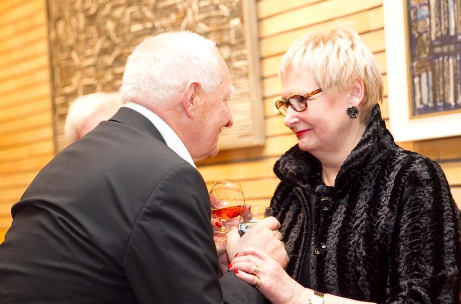 Gediminas Girdvainis su žmona, aktore Kristina Andrejauskaite