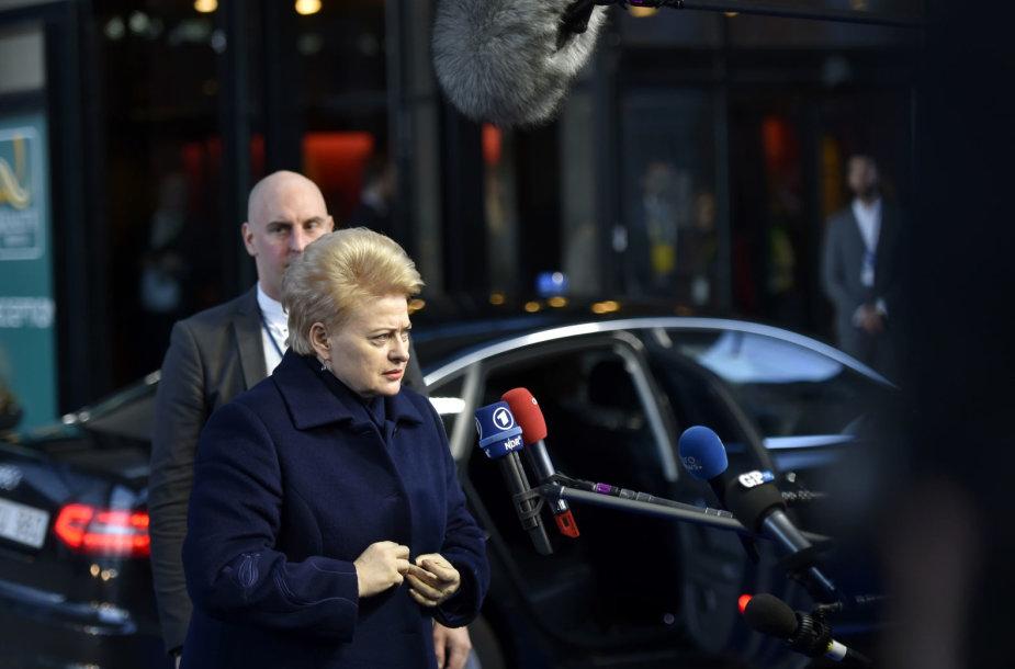 Dalia Grybauskaitė lankosi ES vadovų susitikime Švedijoje