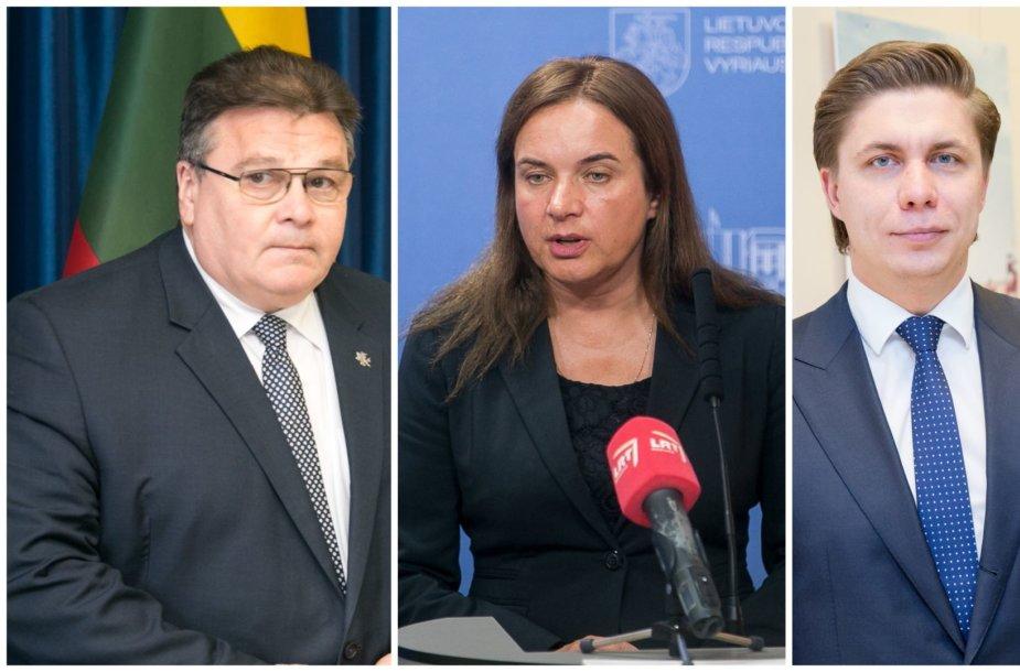 Linas Linkevičius, Milda Vainiutė, Mindaugas Sinkevičius