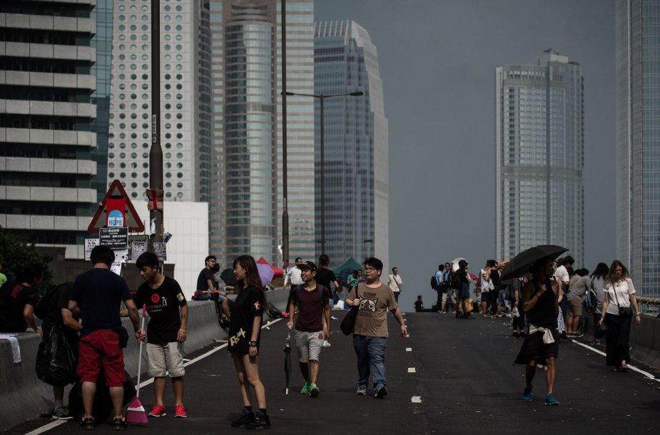 Protestuotojai Honkonge
