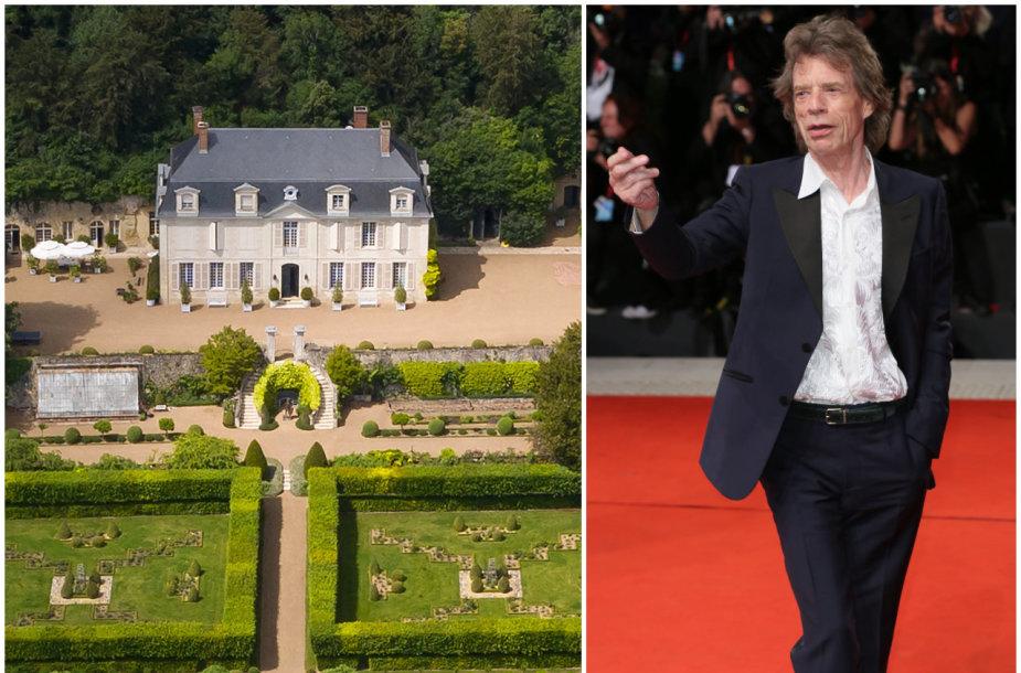 """""""The Rolling Stones"""" vokalistui Mickui Jaggerui priklausanti pilis Prancūzijoje"""