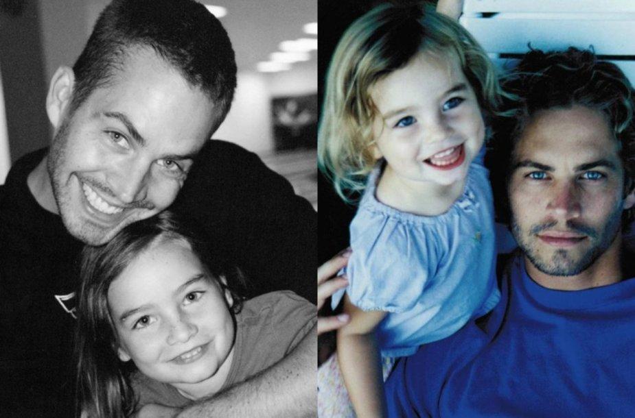 Aktorius Paulas Walkeris su dukra Meadow Walker