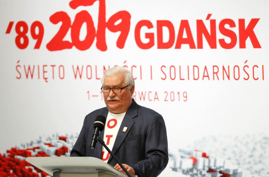Lechas Wałęsa, 1989-ųjų rinkimų trisdešimtmečio minėjimas Gdanske.