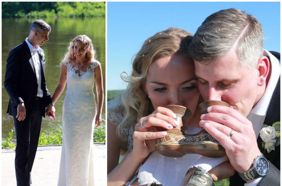 Linos Paliulytės ir Luko Gudo vestuvių akimirka