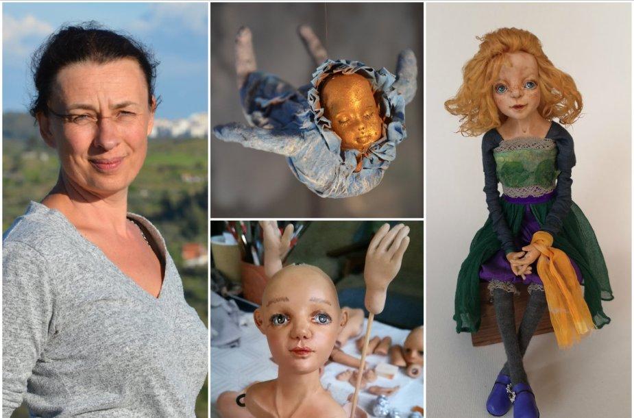 Jolita Ruzgytė ir jos kuriamos lėlės