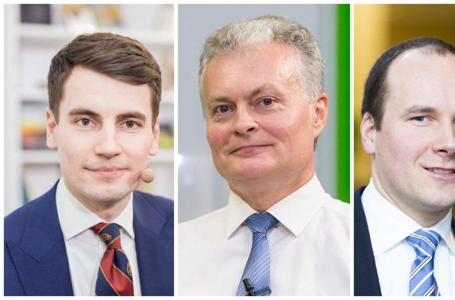 Ekonomistai Rokas Grajauskas, Gitanas Nausėda ir Žygimantas Mauricas