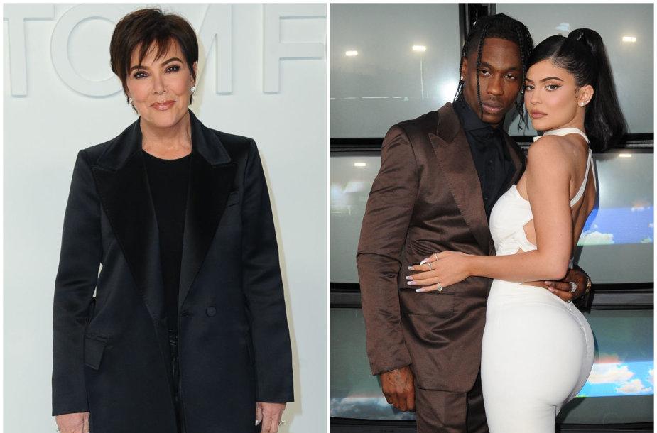 Kris Jenner, Travisas Scottas ir Kylie Jenner
