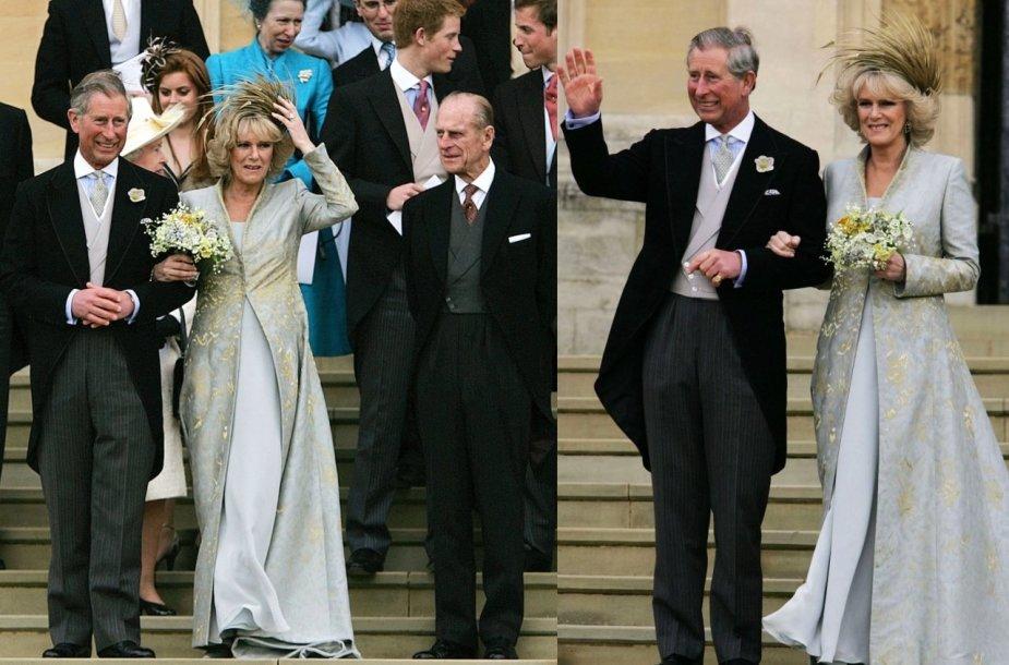 Princas Charlesas, Kornvalio hercogienė Camilla, princas Philipas