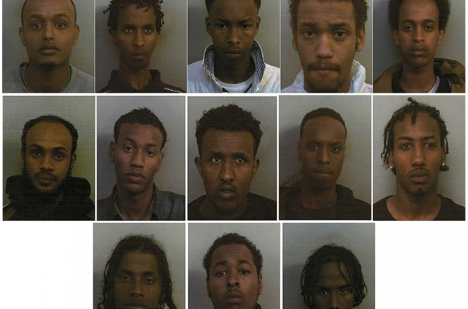 Didžiojoje Britanijoje sulaikytos somaliečių gaujos nariai