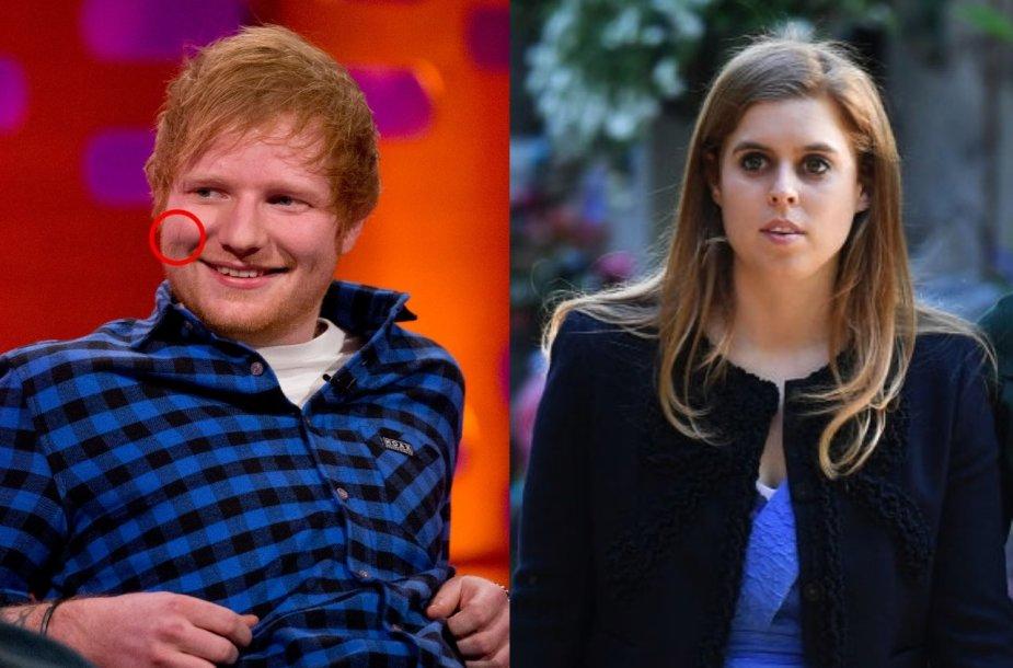 Edas Sheeranas, princesė Beatrice