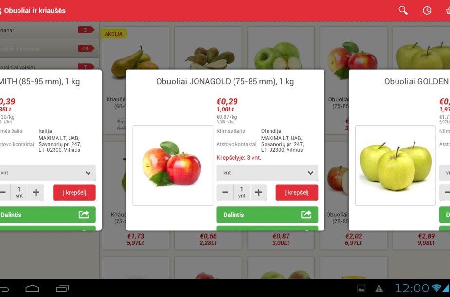 Barbora mobili aplikacija