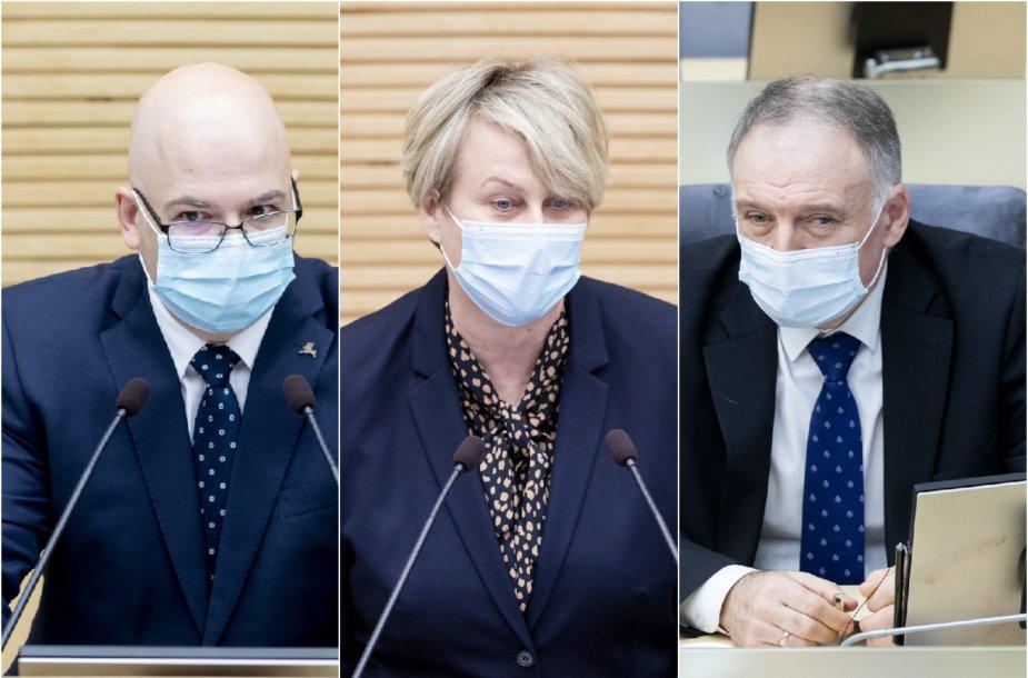 Andrius Kabišaitis, Giedrė Lastauskienė ir Algis Norkūnas