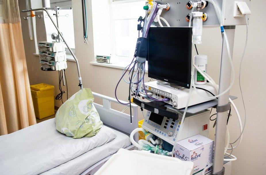 COVID-19 korpusas Panevėžio ligoninėje iš vidaus