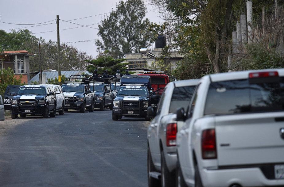 Meksikoje per policijos automobilių kolonos užpuolimą žuvo 13 žmonių