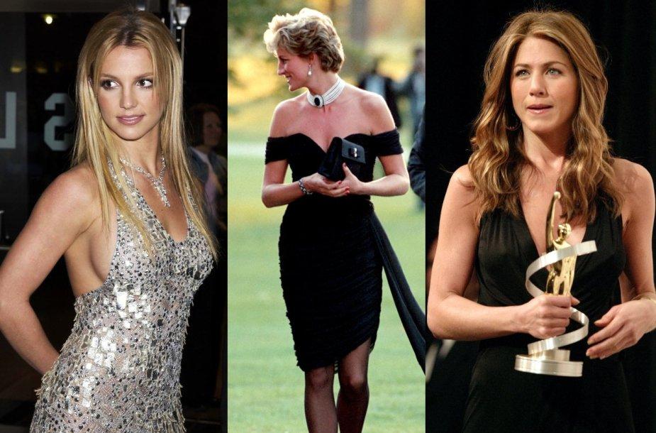 Britney Spears, princesė Diana, Jennifer Aniston