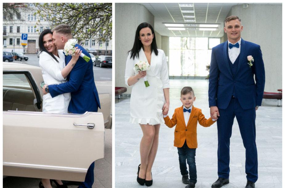 Airinės Juodrytės ir Sergejaus Maslobojevo vestuvių akimirka