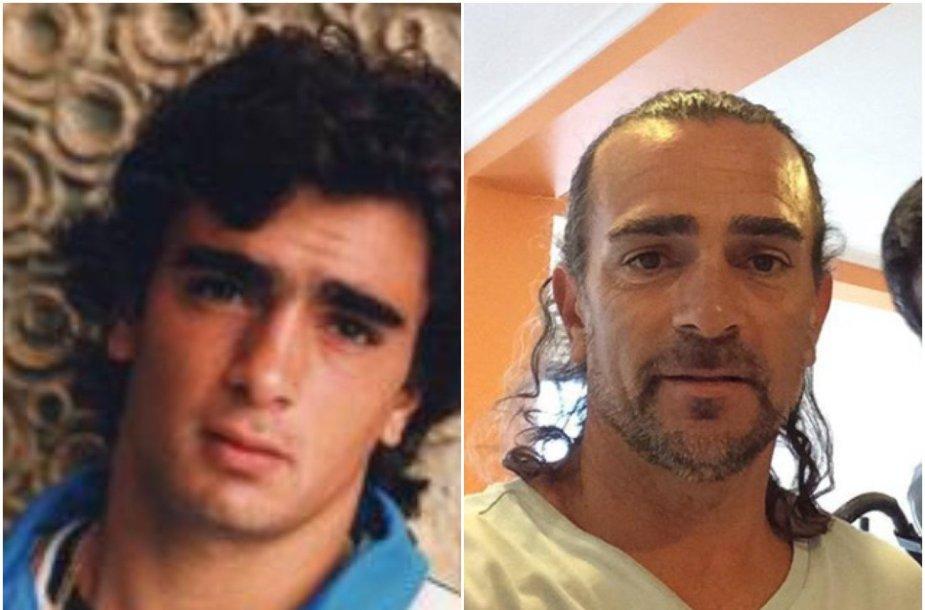 Guillermo Perezas Roldanas jaunystėje ir dabar.