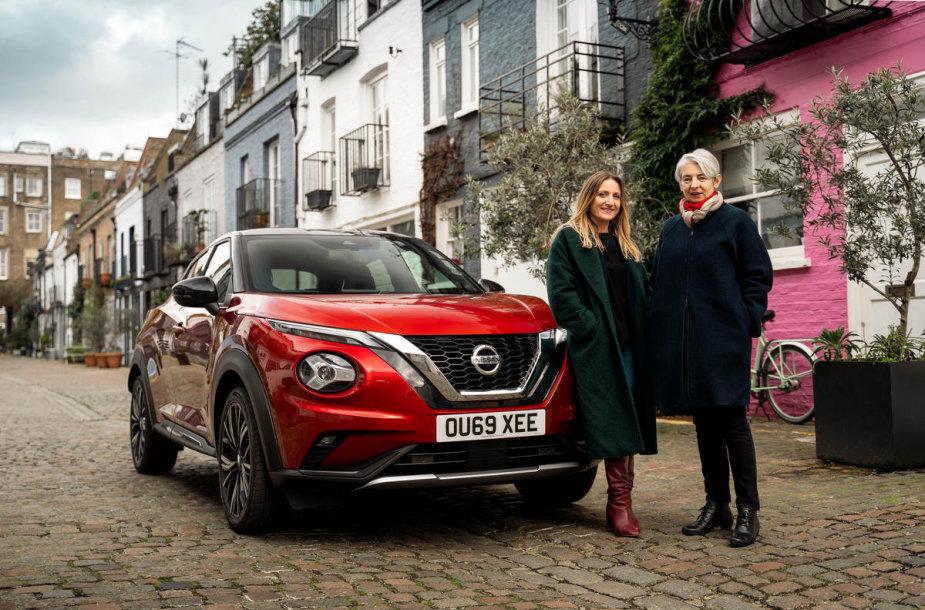 Nissan Juke dizaino kūrėjos: Lesley Busby ir Carine Giachetti