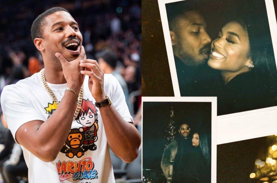 Michaelas B. Jordanas pasidalijo pirmosiomis fotografijomis su mylimąja Lori Harvey