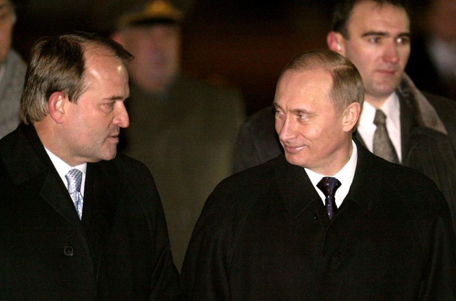 Viktoras Medvedčiukas ir Vladimiras Putinas