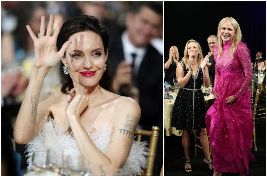 Angelina Jolie, Reese Witherspoon ir Nicole Kidman