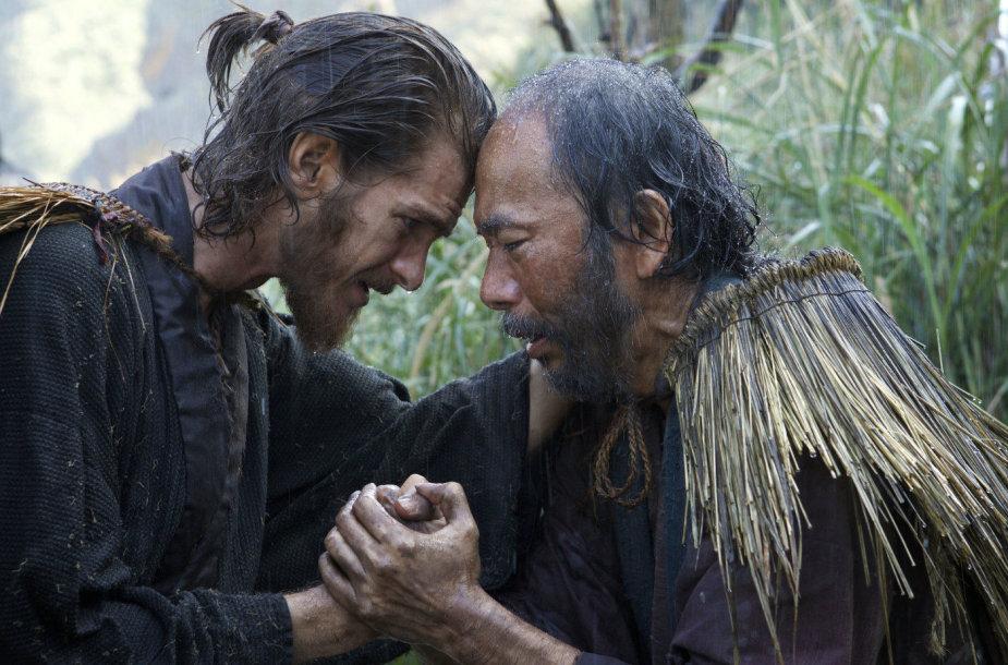 """Andrew Garfieldas ir Shin'ya Tsukamoto dramoje """"Tyla"""""""