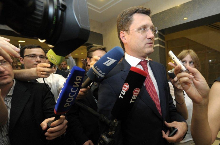 Rusijos energetikos ministras Aleksandras Novakas Briuselyje