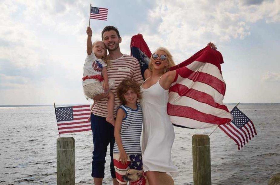 Christina Aguilera su šeima