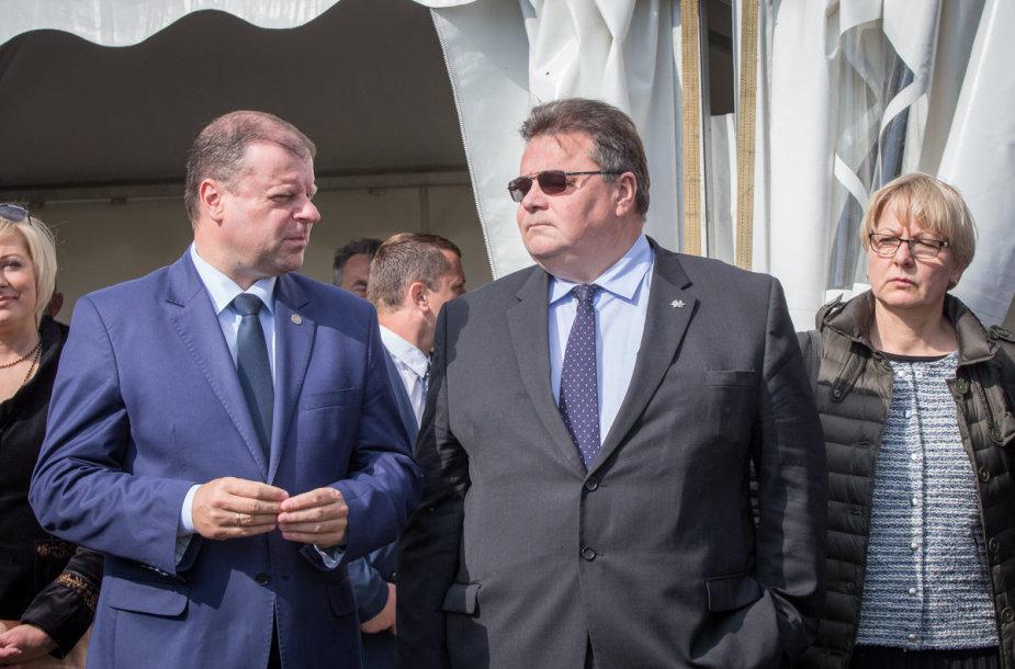 Saulius Skvernelis ir Linas Linkevičius