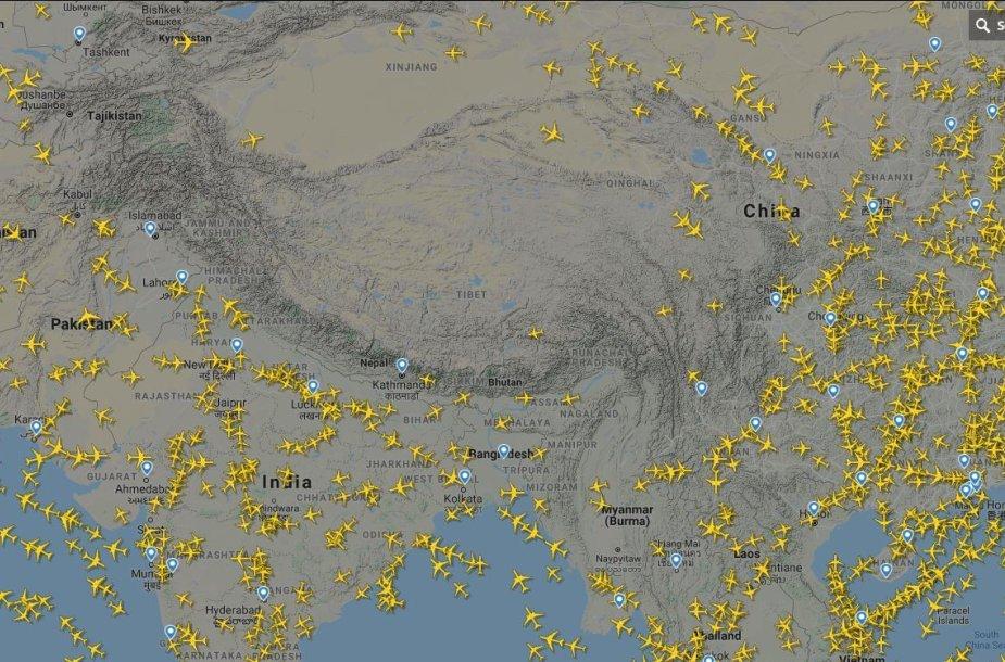 Virš Tibeto – nė vieno lėktuvo