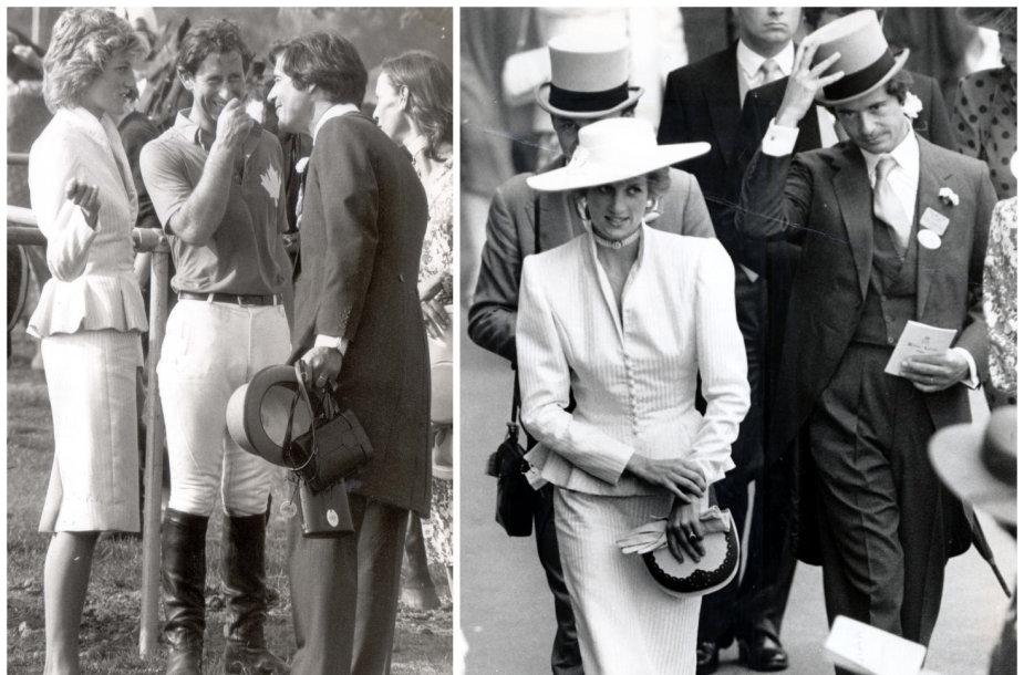 Princesė Diana, princas Charlesas ir Oliveris Hoare'as 1986 metais