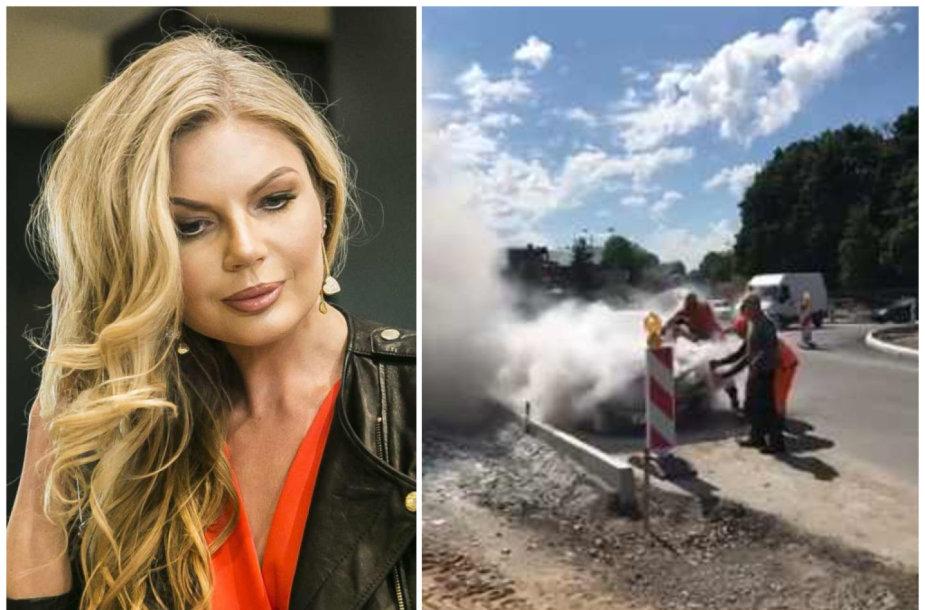Trakuose sudegė Solveigos Mykolaitytės automobilis