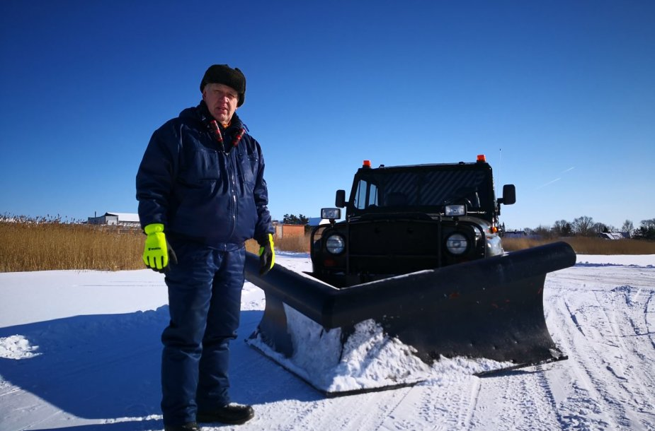 Ledo kelias per Baltijos jūrą Estijoje Hapsalu–Noarotsis