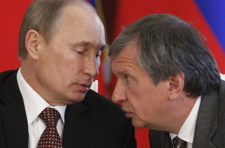 Vladimiras Putinas ir Igoris Sečinas