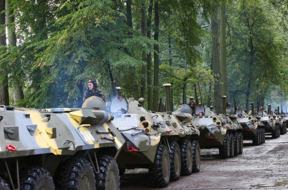 """Baltarusijos ir Rusijos karinės pratybos Kaliningrade """"Zapad 2013"""""""