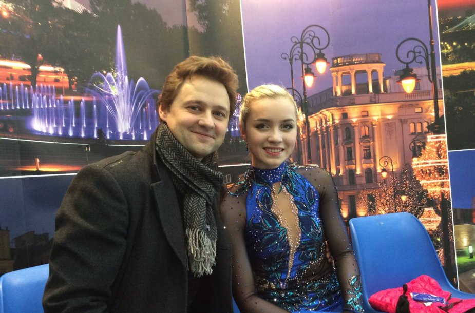 Aleksandra Golovkina su treneriu Dmitrijumi Kozlovu