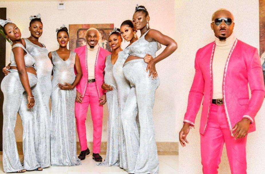 Nigerijos visuomenės veikėjas vestuvėse pasirodė lydimas šešių nėščių moterų