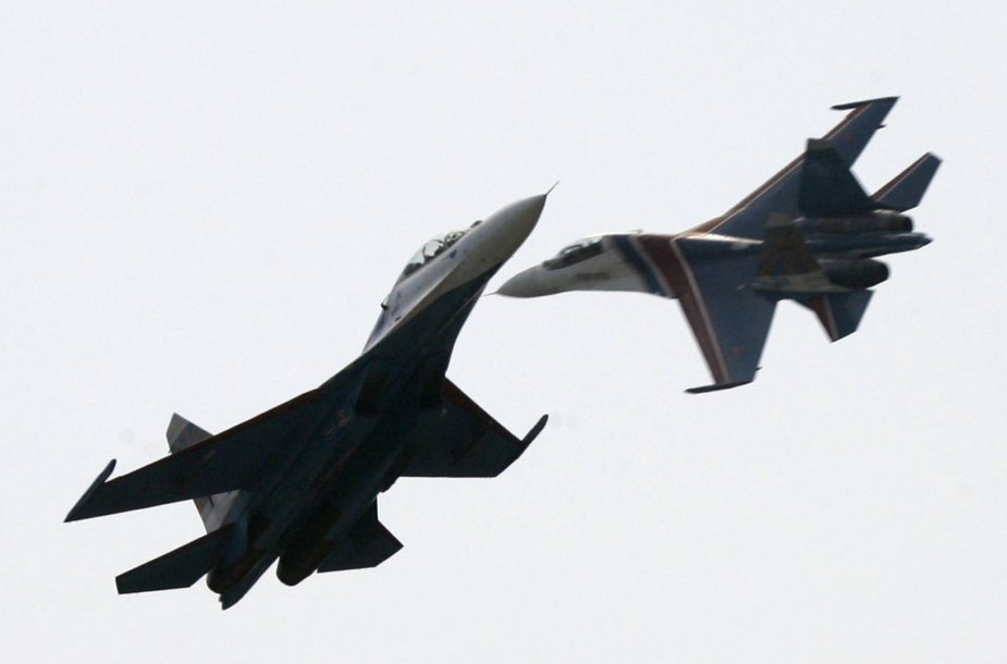 Rusijos Su-27 naikintuvai