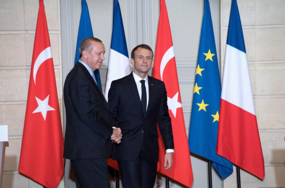 Recepas Tayyipas Erdoganas ir Emmanuelis Macronas