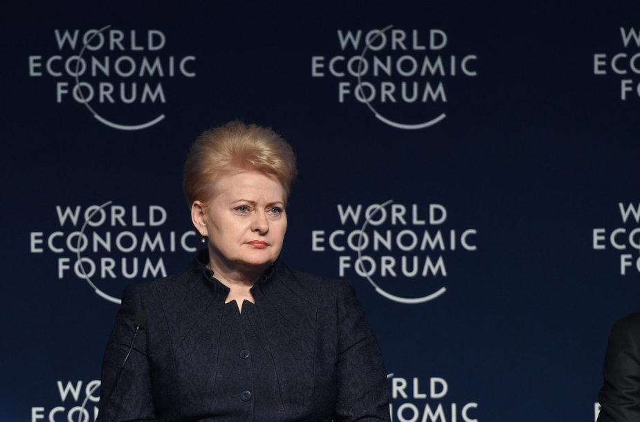 Lietuvos prezidentė Dalia Grybauskaitė Pasaulio ekonomikos forume, Davose.