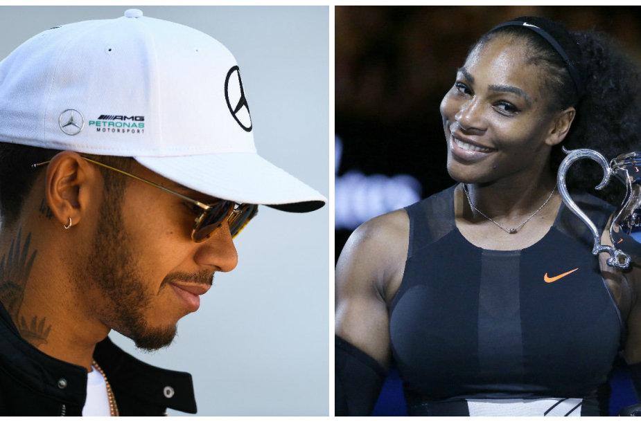 Lewisas Hamiltonas ir Serena Williams