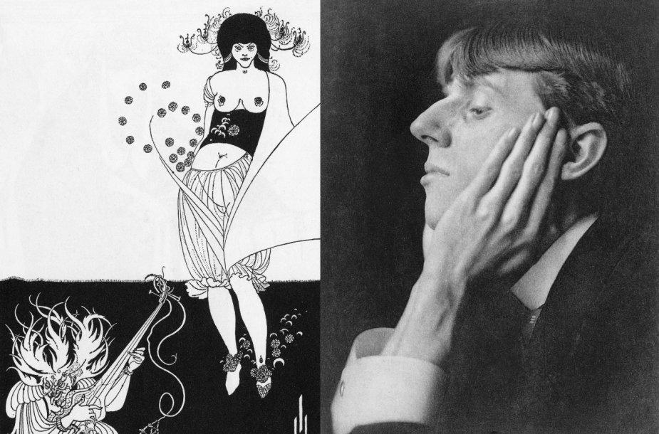 """Oscaro Wilde'o pjesės """"Salome"""" iliustracija ir jos autorius Aubrey Beardsley (1894–1895)"""